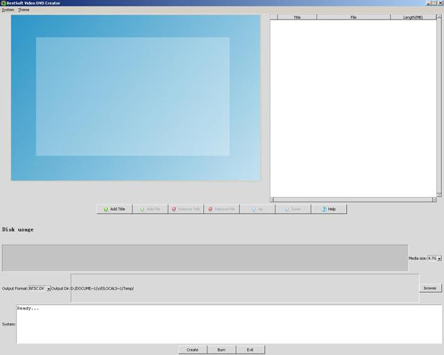 Windows 7 BestSoft Video DVD Creator and Burner 1.0.4 full