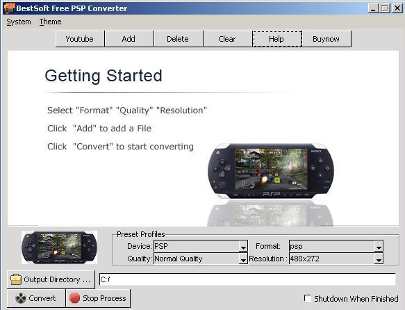 BestSoft Free PSP Converter screenshot
